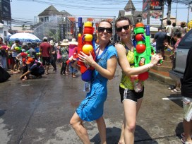The world's biggest water fight ... Songkran. Chiang Mai, Thailand